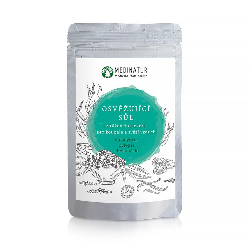 Osvěžující sůl z růžového jezera – Eukalyptus proti únavě a pocitu bez energie a pro svěží vzduch